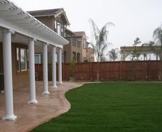 Patio cover with roman columns